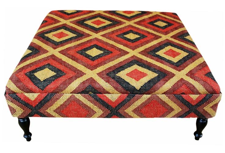 I Just Bought This Kilim Upholstered Ottoman As A Child Safe Coffee Table Jungalow Style
