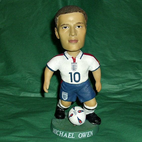 Michael Owen Football Bobble Head Figure Sport by WelshGoatVintage - SOLD OUT