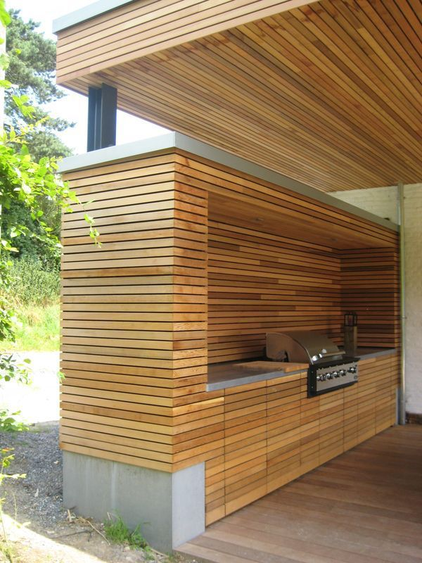 174 best images about outdoor kitchen and bbq on pinterest for Cuisine exterieur