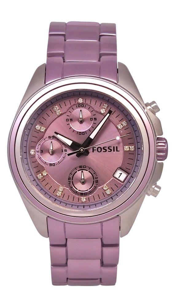 Violet-Fossil Women's Boyfriend Watch. My bday is in sept!!! Hint hint friends!!!