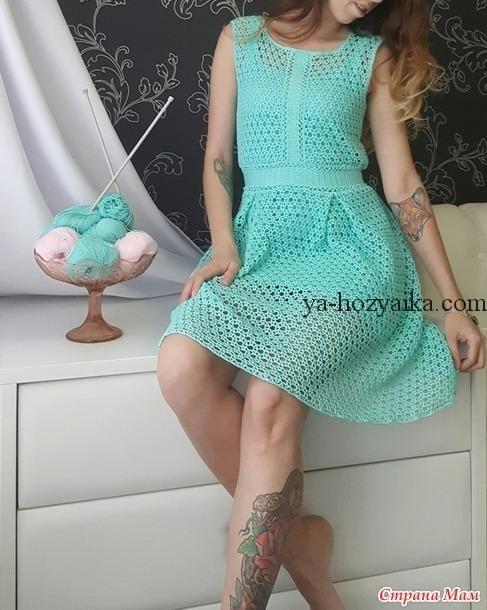 Платье Тиффани крючком