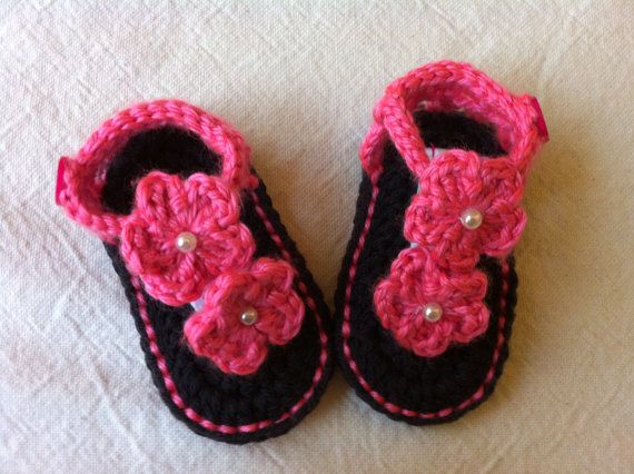 Crochet Pattern Baby Girl Sandals : Crochet Baby Booties, Crochet Baby Sandals, Baby Sandals ...