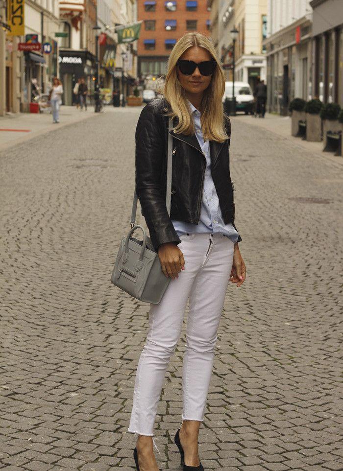 Hvite jeans | Motesilje : Motesilje