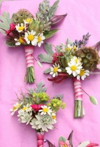 we finish all our buttonholes with ribbon