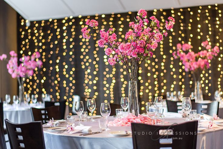 cherry blossoms by always fabulous flowers at Restaurant Two