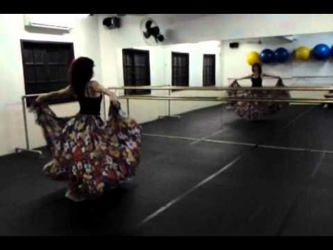passo a passo de como fazer uma saia cigana para dança teatral - YouTube
