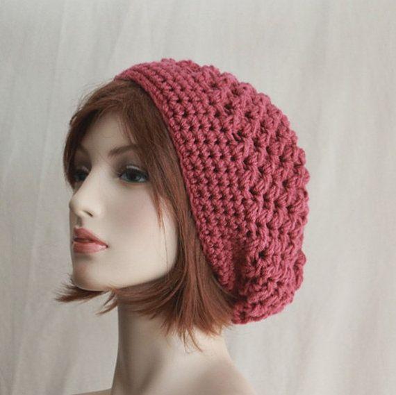 Slouchy Womens Hat Beret  Crochet  Beanie by endlesscreation