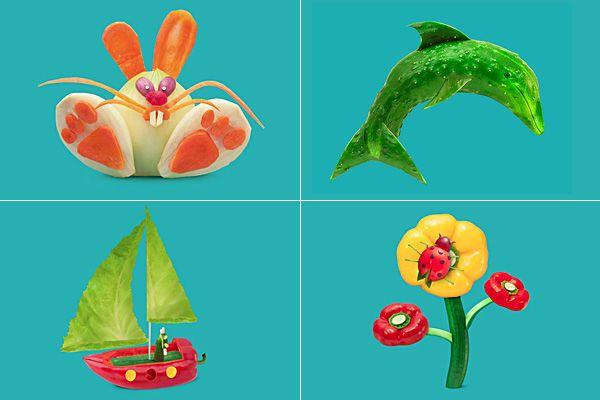 Оригинальные съедобные персонажи в рекламе Пицца Хат. (4 фото)