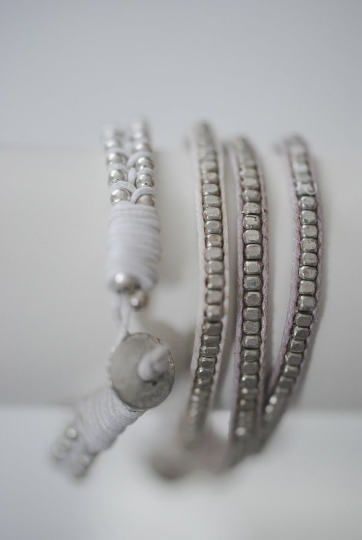 Inspiration - wrapped doubled ball chains and wrapped chan luu style tiny silver beads?