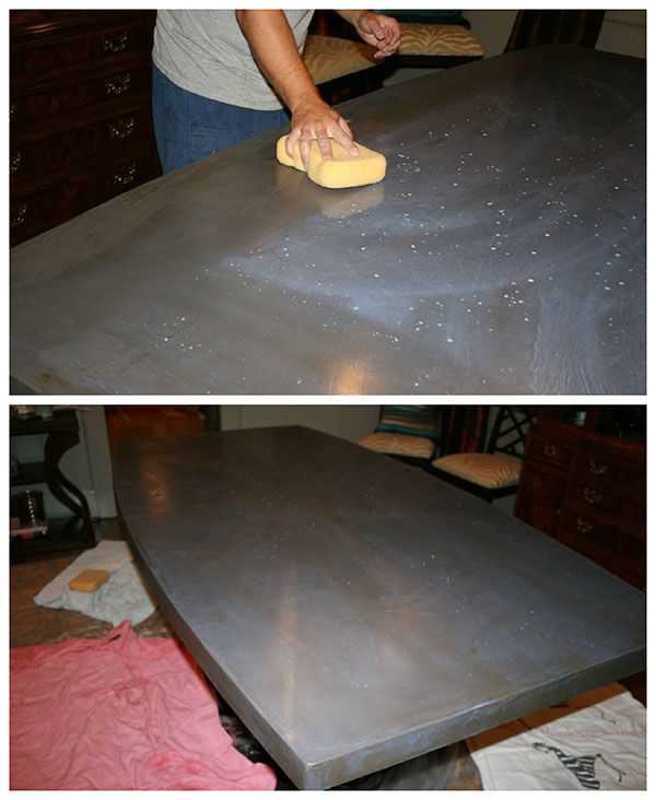 DIY Concrete Table Top: Chic And Durable