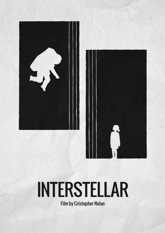Interstellar 2014 minimalist movie poster film by cristopher nolan