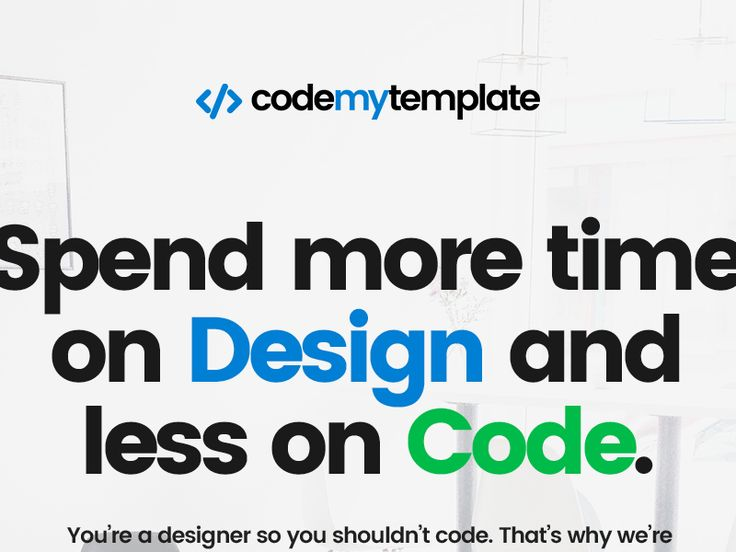 Landing page for codemytemplate.com by Chris Bontas