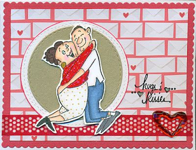 Art Impressions Rubber Stamps: Ai Spinners: Love Spinner (Sku#4571) Handmade card.  Valentine's Day