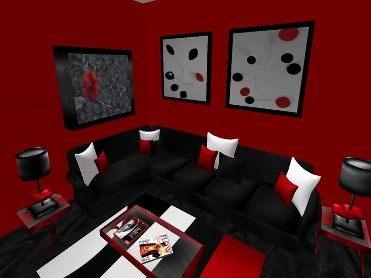 Black and Red Living Room Furniture - 33 Best Amazing Inspiring Red Living Room For Your Home Images On