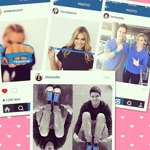 Regram @ten_insider - be sure to order your laces now at www.laceitup.com.au and #laceitup like your Channel 10 favourites! @annaheinrich1 @fionafalkiner @stweedie @bentleybilly @jessicaskarratt