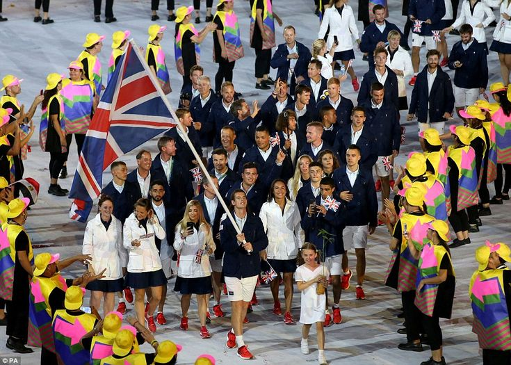 There are in total 44 openly gay athletes competing in the Rio 2016 Olympic games but Team GB (pictured) has the most with eight LGBT competitors