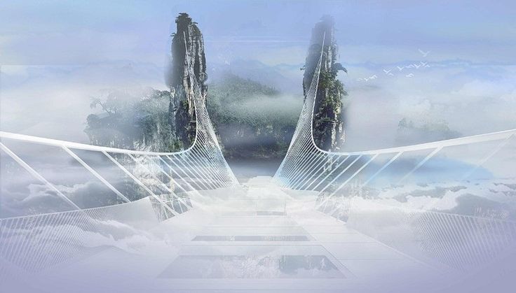 "World's Longest And Highest Glass-Bottom Bridge Promises Planet's Highest Bungee Jump!  Earlier this month, the officials of China's Hunan Province revealed what they believe will be a new ""Wonder of the World"" - the planet's longest and highest glass-bottom bridge. When complete, the 430m (1,214 ft) long and 6m wide.         #Bridge #Zhangjiajie #Travel #China #Skywalk #BridgePhotography #Glass #Landscape #NationalPark #GrandCanyon  #Hunan"