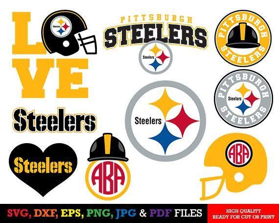 Pittsburgh Steelers Svg Files Cricut Silhouette Cameo Steelers Logo Steelers Clipart Football Svg Dxf Ep Cricut Tutorials Cricut Projects Beginner Cricut