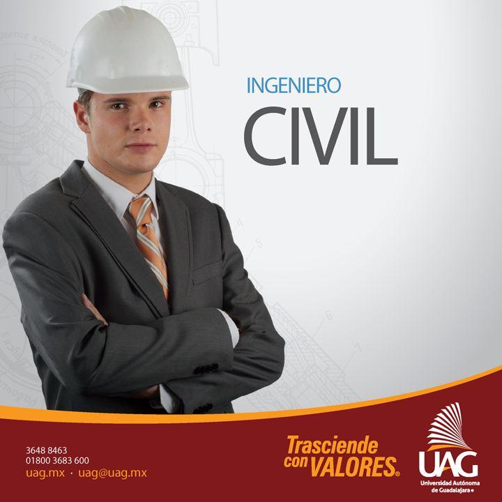 Como Ingeniero Civil podrás desempeñarte en el sector público y en el privado como empresario, director de empresa, promotor de desarrollos y administrador de empresas constructoras.