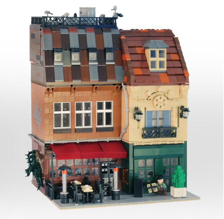 There goes the Neighborhood - Old French Cafe Lego building by Carson Hart