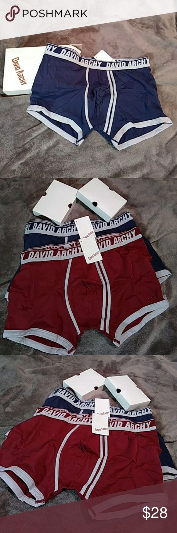 4 pair of David Archy Men's Underwear size 36-38 4 Pair of David Archy men's boxer briefs size 36-38. Brand new with tags, originally $45! Maroon/dark red & Navy Blue. Awesomeness...buy'em! David Archy Underwear & Socks Boxer Briefs