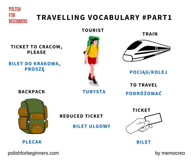 Coming to Poland? This vocabulary is for you? Here is travelling Polish…