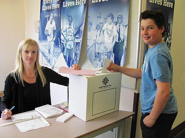 Student Vote at Alex Aitken Elementary School.