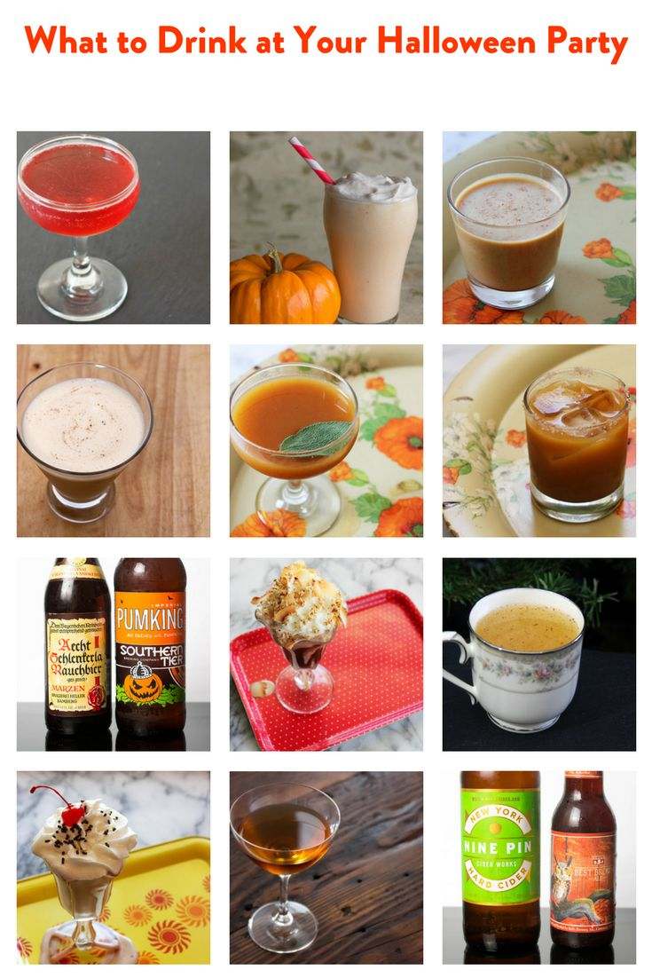 We've gathered our favorite Halloween sips, including candy bar milkshakes and tasty cocktails, both with and without a little pumpkin mixed in.