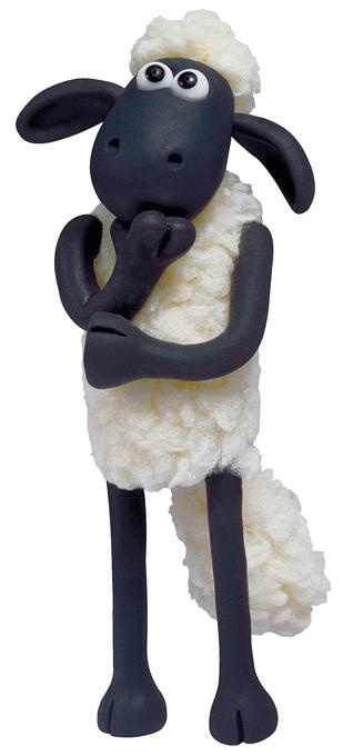 Shaun the Sheep this is so cute, it doesn't even matter how old you are, you've gotta love him.