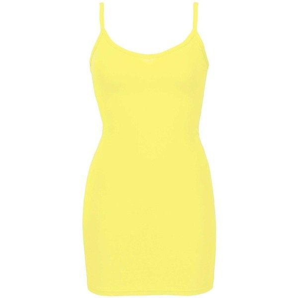 BKE Core V-Neck Extra Long & Lean Tank Top - Yellow Small (38 DKK) ❤ liked on Polyvore featuring tops, yellow, v neck tank top, low top, extra long tank, yellow tank top and low v neck tops