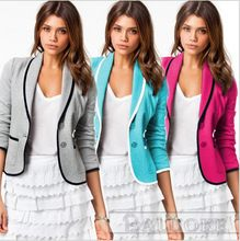 2015 del otoño del verano diseño moda Slim Fit corto Blazer mujeres para mujer Blazer Suit Femininas S-2XL envío gratis(China (Mainland))