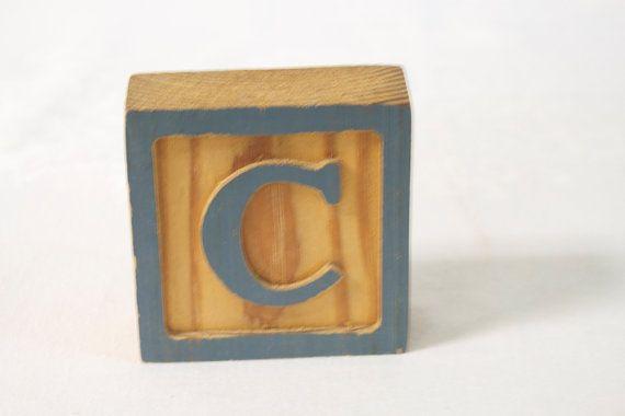 Vintage grote houten Letter blok C