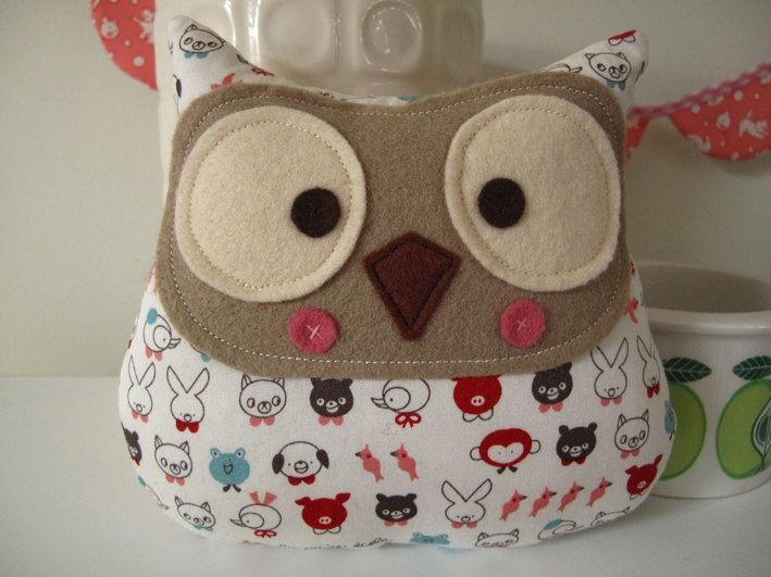 Handmade owl plush toy