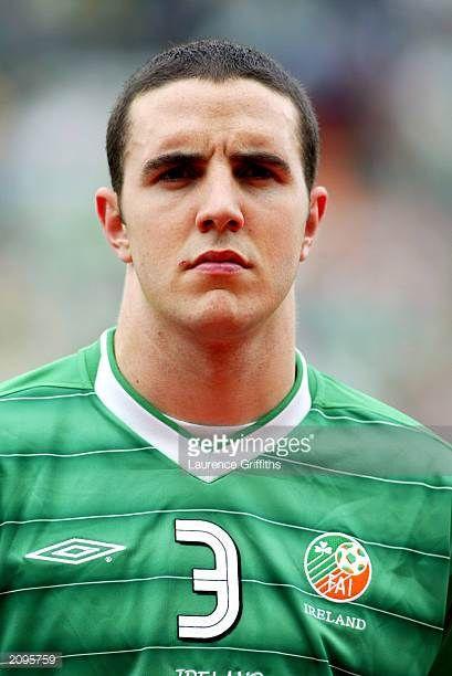 Portrait of John O'Shea of the Republic of Ireland taken before the UEFA European Championships 2004 Group 10 Qualifying match between Republic of...
