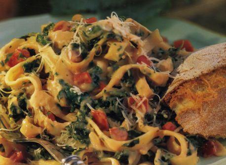 Fettucine aux épinards - Recettes | Plaisirs laitiers - Nourrir votre quotidien