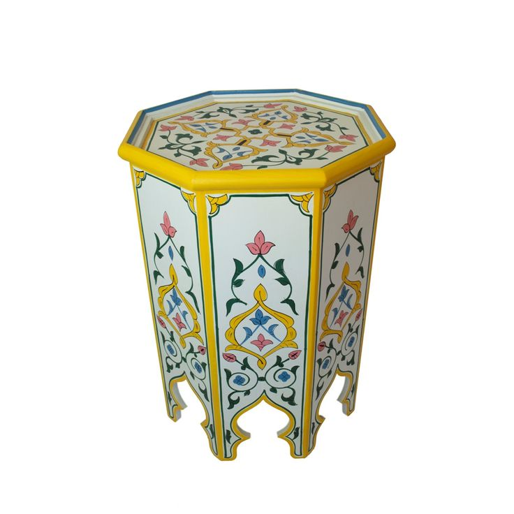 $479.99 - Meknes Hand Painted Side Table