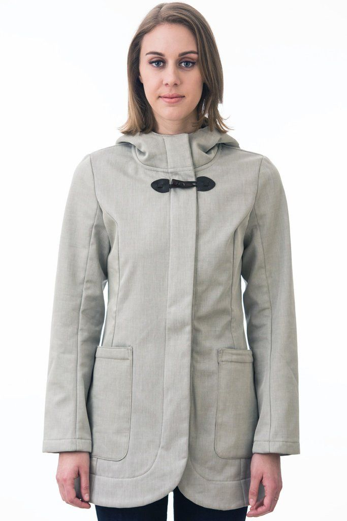 Taupe Duffle Waterproof Rain Jacket