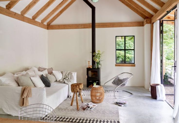 """This cosy summer-house living room is from our feature """"Hello Sunshine"""""""
