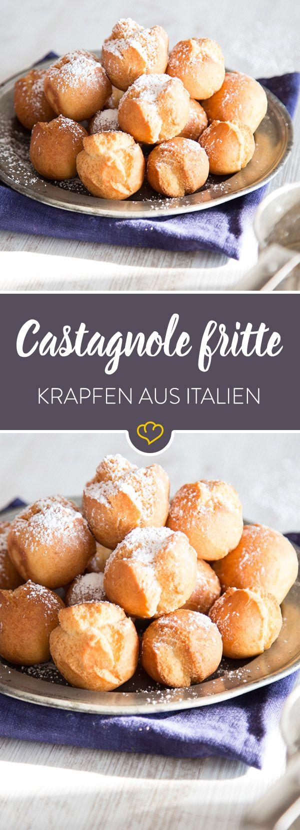 Diese kleinen frittierten Krapfen sind ein Muss an Karneval in Italien. Kein Wunder, die sind so lecker, dass sie für eine extra Portion gute Laune sorgen.