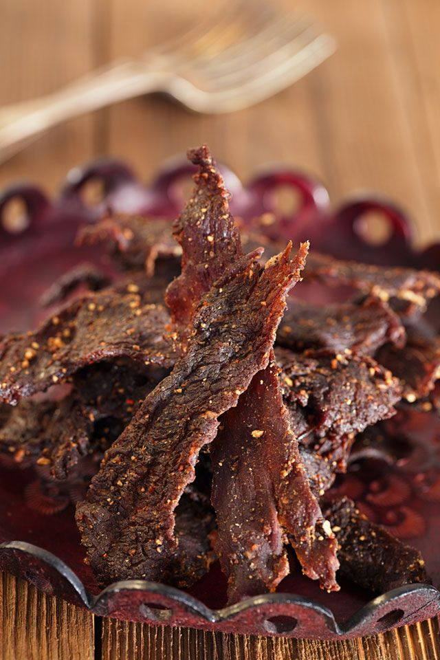 Super simple Homemade Beef Jerky - sugar free with 4 ingredients in the oven