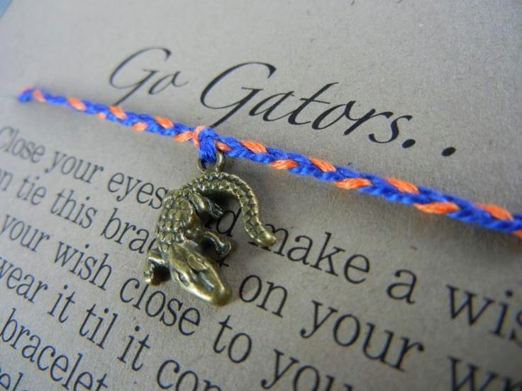 Florida Gators Wish Bracelet