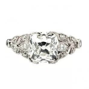 Cypress Point vintage Art Deco diamond engagement ring from Trumpet & Horn