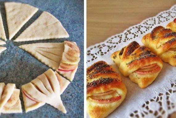 Trojuholníkové kapsičky plnené jablkami patrí medzi najlepšie jedlo, keď príde návšteva   Chillin.sk