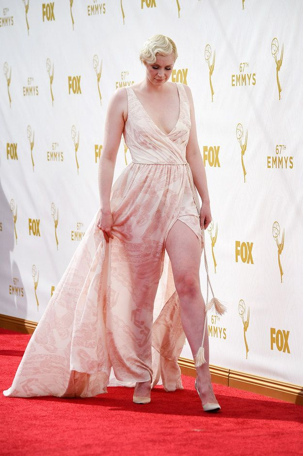 Here she is at the Emmy Awards looking like she can bend all the elements to her will. Gwendoline Christie