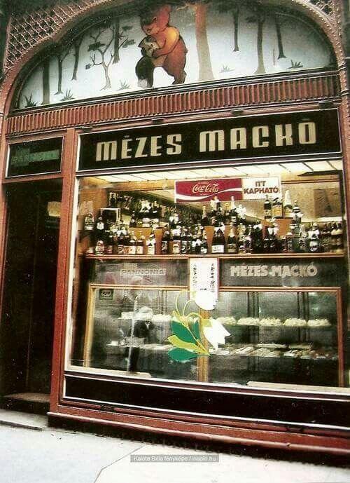 Mézes Mackó, Kígyó utca 4. (80as évek vége).  Forrás: http://budapestretro.weebly.com