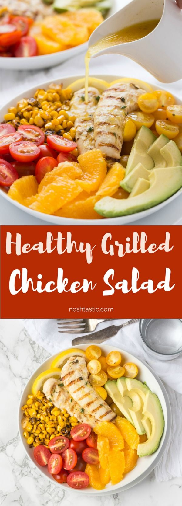 This gluten free Chicken Salad With honey Orange Vinaigrette is a winning combination of fresh flavors and a citrus dressing you'll love! | Paleo & whole30 options |