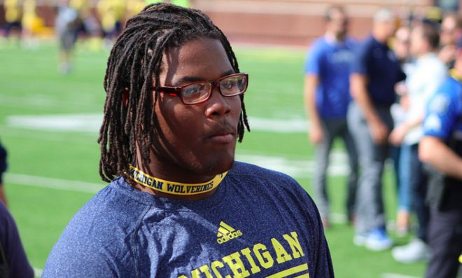 At long last, it's official: the No. 1 player in the nation for the Class of 2016 will be a Wolverine. Paramus (N.J.) Catholic 2016 defensive tackle Rashan Gary made the announcement on ESPN Wednesday.  https://michigan.n.rivals.com/news/rashan-gary-commits-to-michigan-wolverines-football