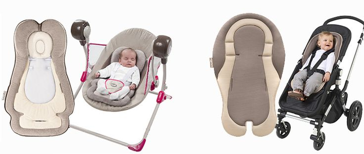 Because baby needs to be comfortable when going out ! These are the Anatomical Reducer Cushion & the Cusycushion. #Babymoov #Comfort