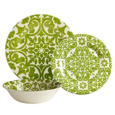 Trellis Dinnerware - Green plates for wall art  sc 1 st  Pinterest & 23 best Gorgeous Melamine Dinnerware images on Pinterest | Melamine ...