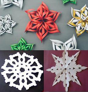 """Cum să faci decoraţiuni """"fulgi de zăpadă"""" din hârtie - video"""